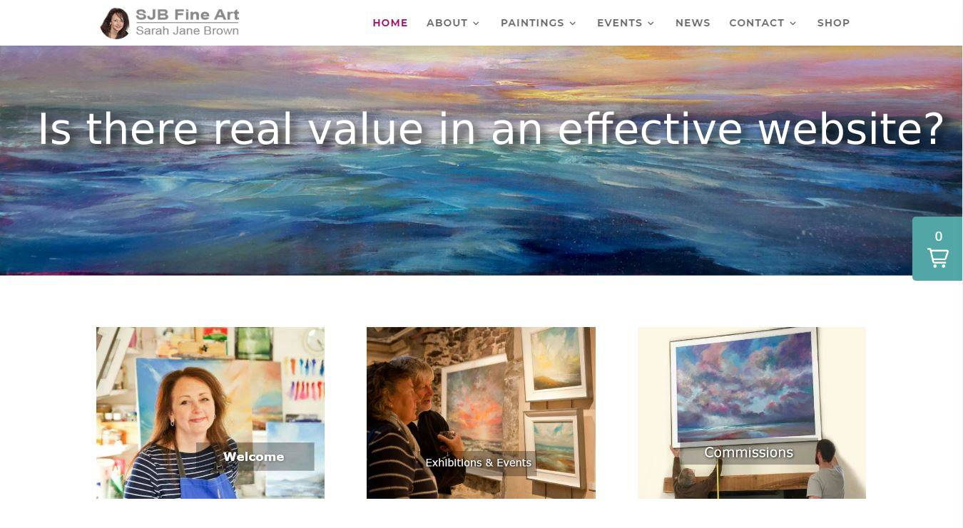 image screenshot of SJB Fine Art website